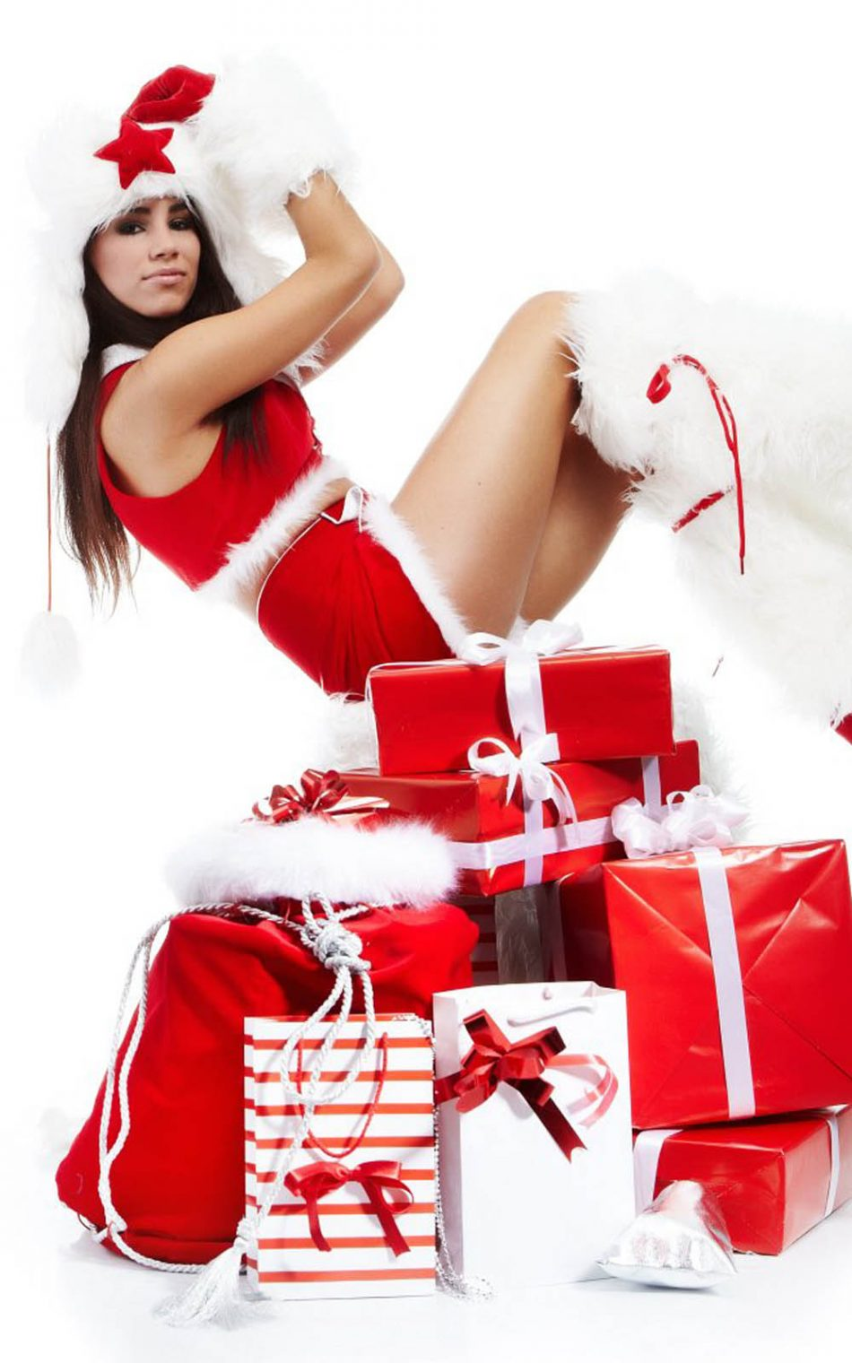 Babe Hd christmas babe with gifts free 4k ultra hd mobile wallpaper