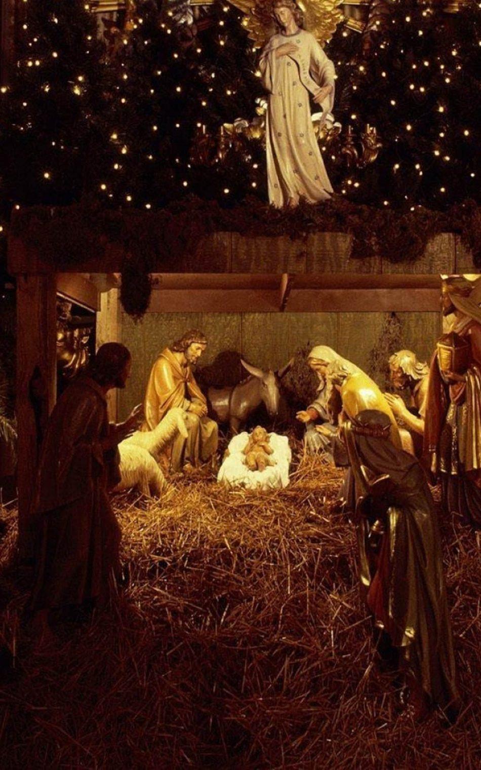 Christmas Jesus Nursery Decorations Free 4k Ultra Hd Mobile Wallpaper
