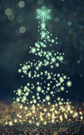 Christmas Tree Crystal Sparkles CGI HD Mobile Wallpaper