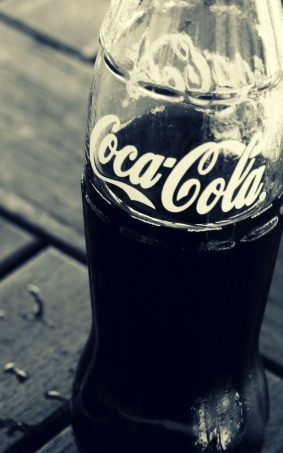 Coca Cola Glass Black & White HD Mobile Wallpaper