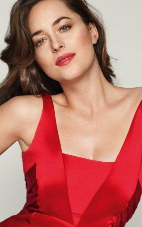 Dakota Johnson Red Dress HD Mobile Wallpaper