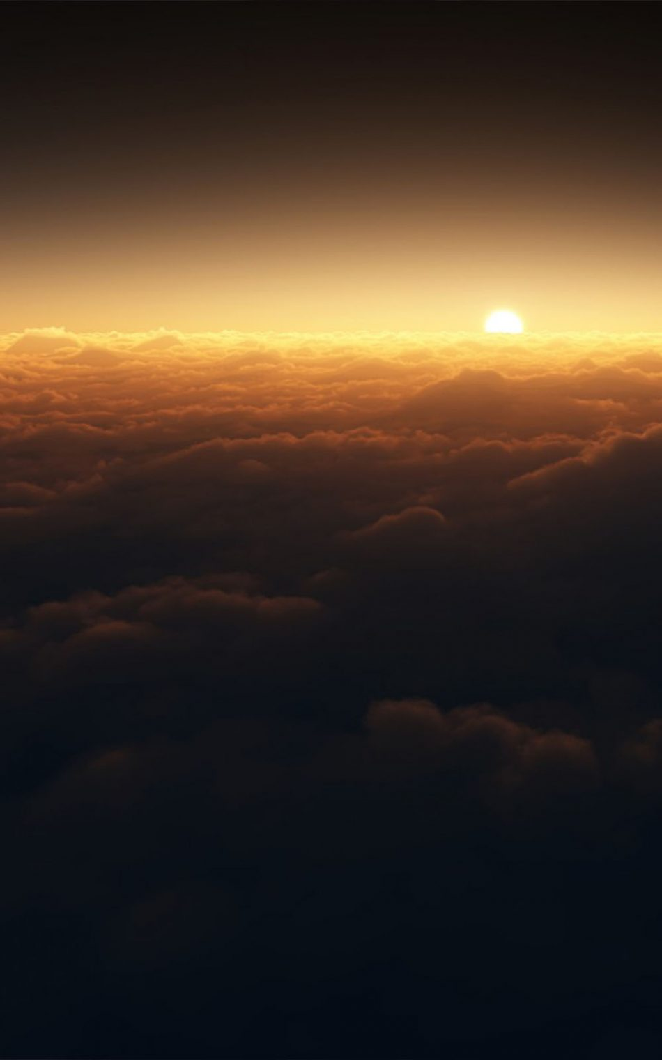 Dark Clouds Sunset HD Mobile Wallpaper