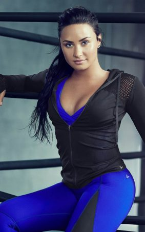 Demi Lovato Workout Photoshoot 2017 HD Mobile Wallpaper