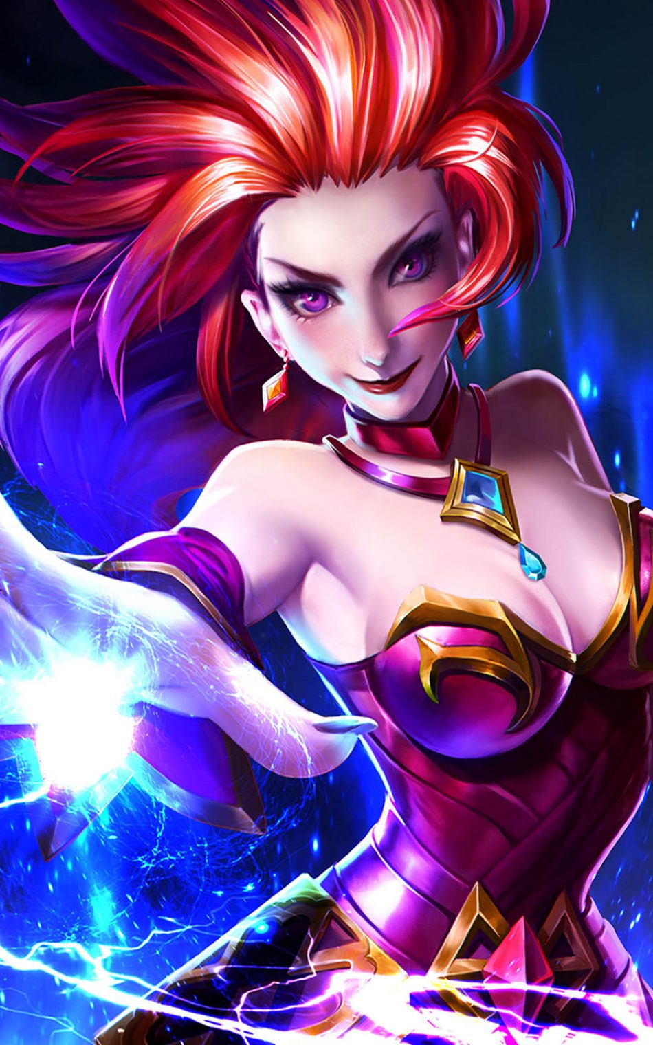 Flame Red Lips Eudora Mobile Legends Free 4K Ultra HD Mobile