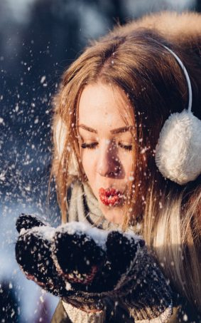 Girl Enjoying Snow Winter HD Mobile Wallpaper