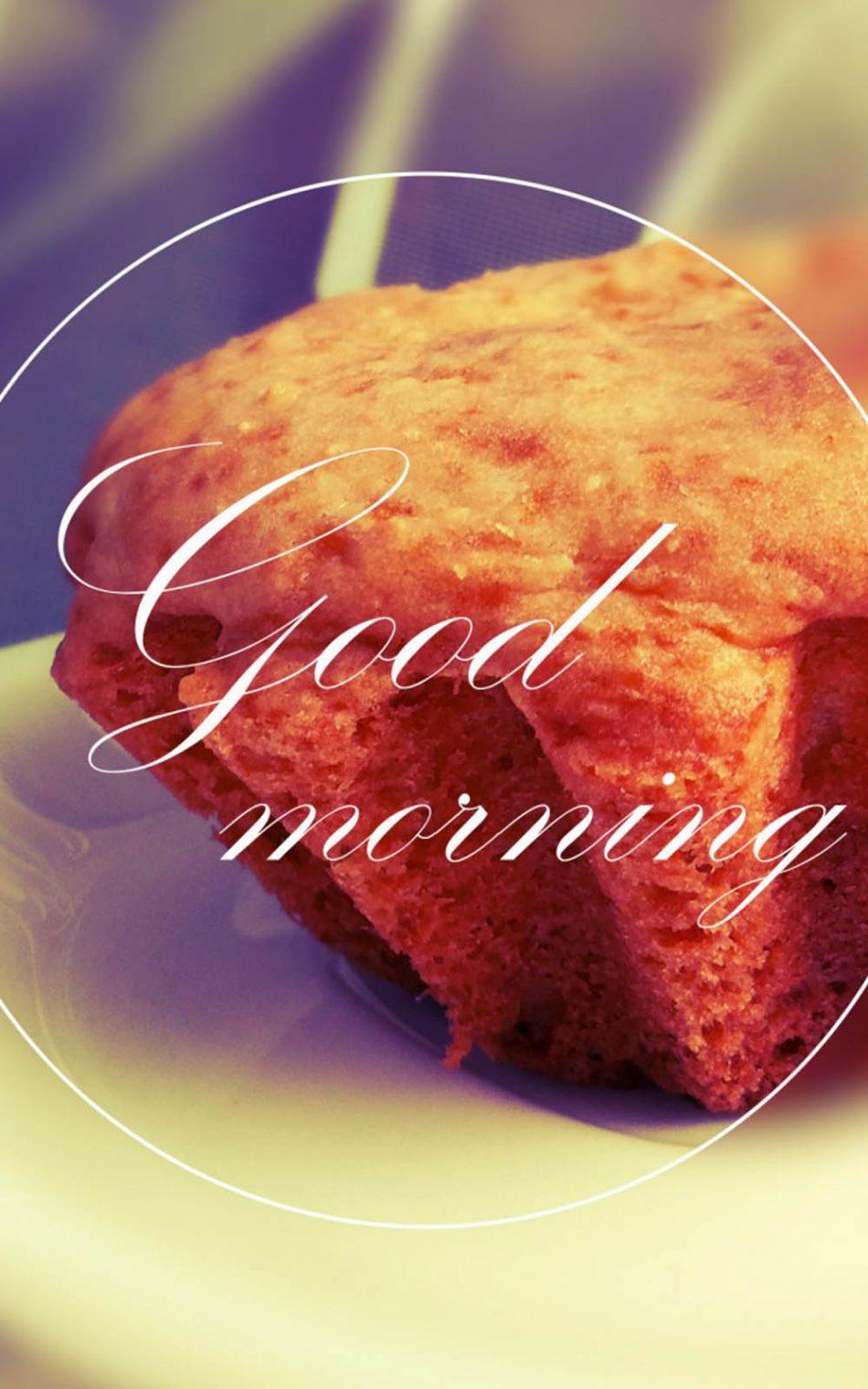 Good Morning Cupcake HD Mobile Wallpaper