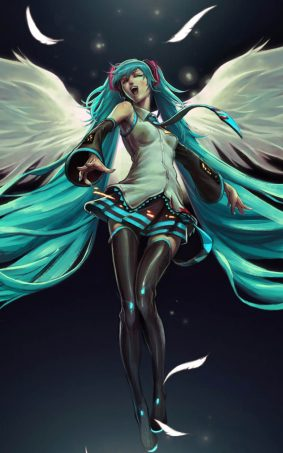 Hatsune Miku Angel HD Mobile Wallpaper