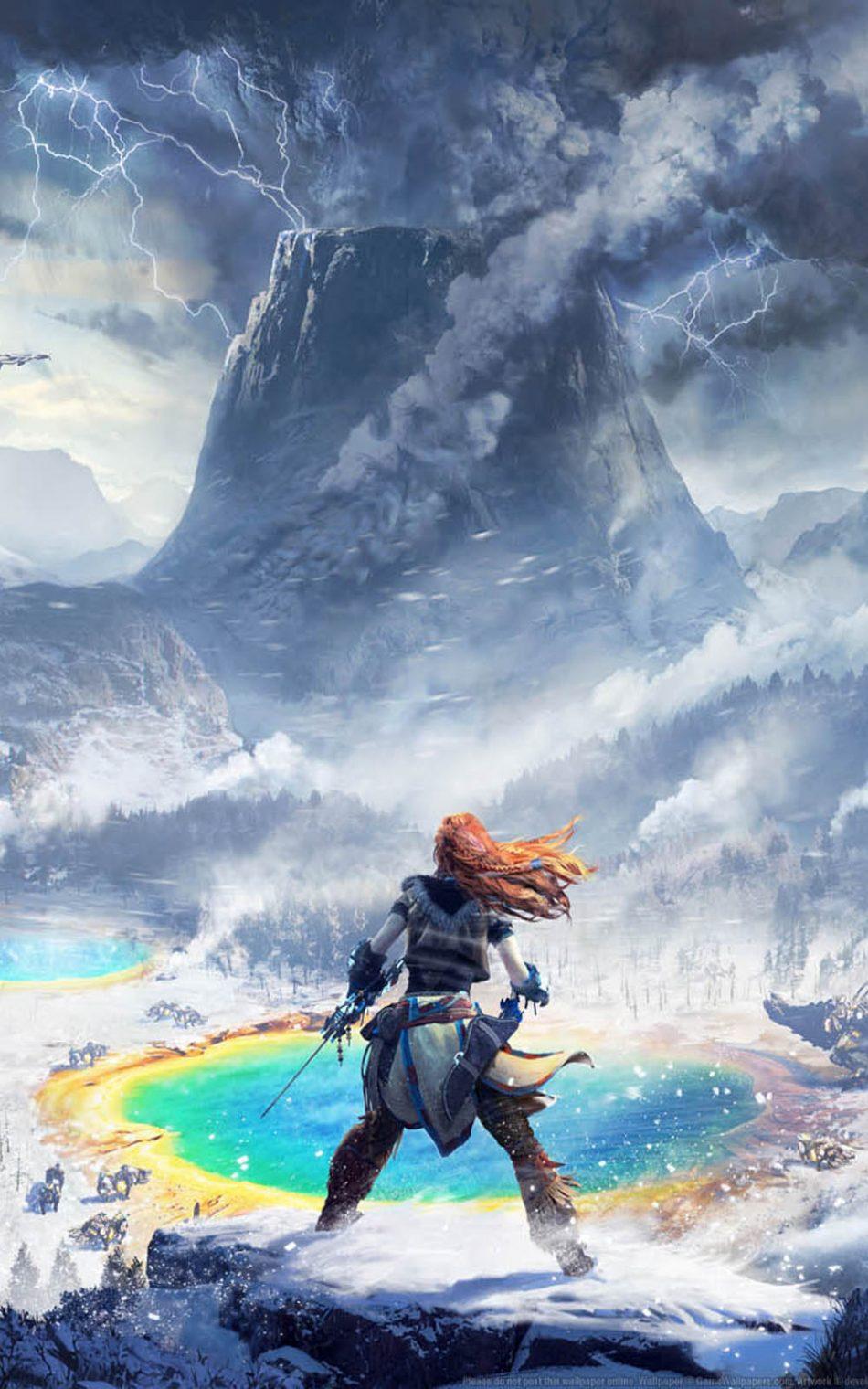 Horizon Zero Dawn - The Frozen Wilds 4K Ultra HD Mobile Wallpaper