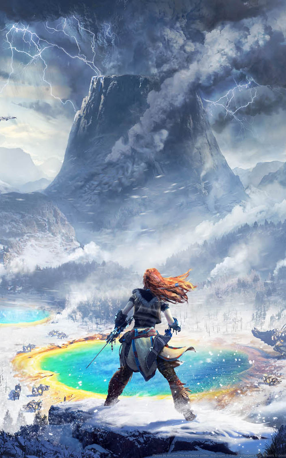 Download horizon zero dawn the frozen wilds free pure 4k - Horizon zero dawn android wallpaper ...
