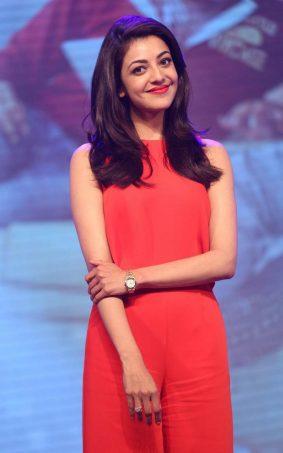 Kajal Agarwal In Red Dress HD Mobile Wallpaper