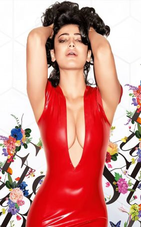 Shruti Haasan In Hot Red Dress HD Mobile Wallpaper