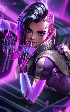 Sombra In Overwatch Game HD Mobile Wallpaper