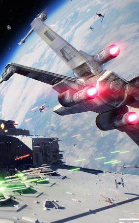 Spaceship Star Wars - Battlefront II HD Mobile Wallpaper