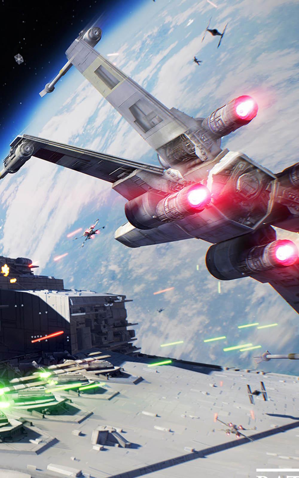 Spaceship Star Wars - Battlefront II 4K Ultra HD Mobile ...