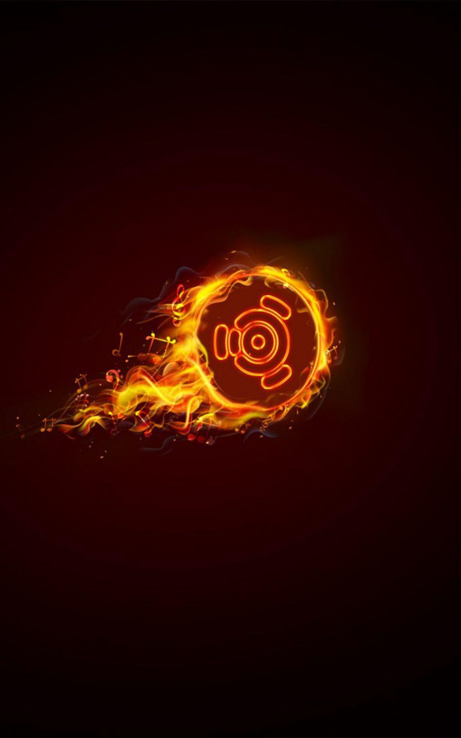 Ubuntu Dark Flame Logo HD Mobile Wallpaper