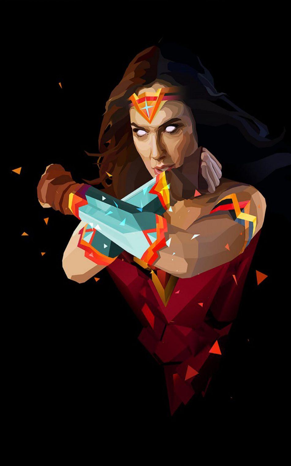 Download Wonder Woman Minimal Free Pure 4k Ultra Hd Mobile