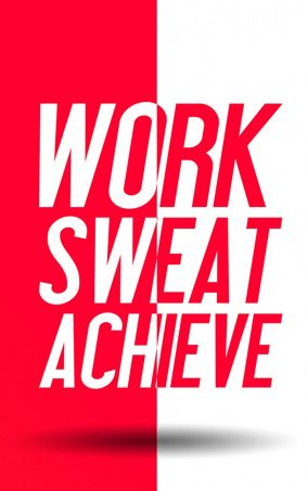 Work Sweat Achieve HD Mobile Wallpaper