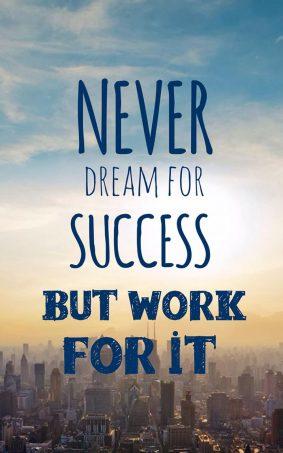 Dream Success Work HD Mobile Wallpaper
