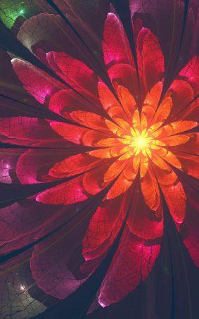 Fractal Flower HD Mobile Wallpaper