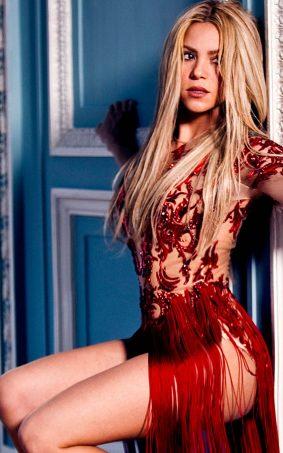 Shakira In Red Hot Dress HD Mobile Wallpaper