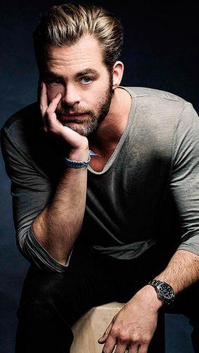 American Actor Chris Pine HD Mobile Wallpaper