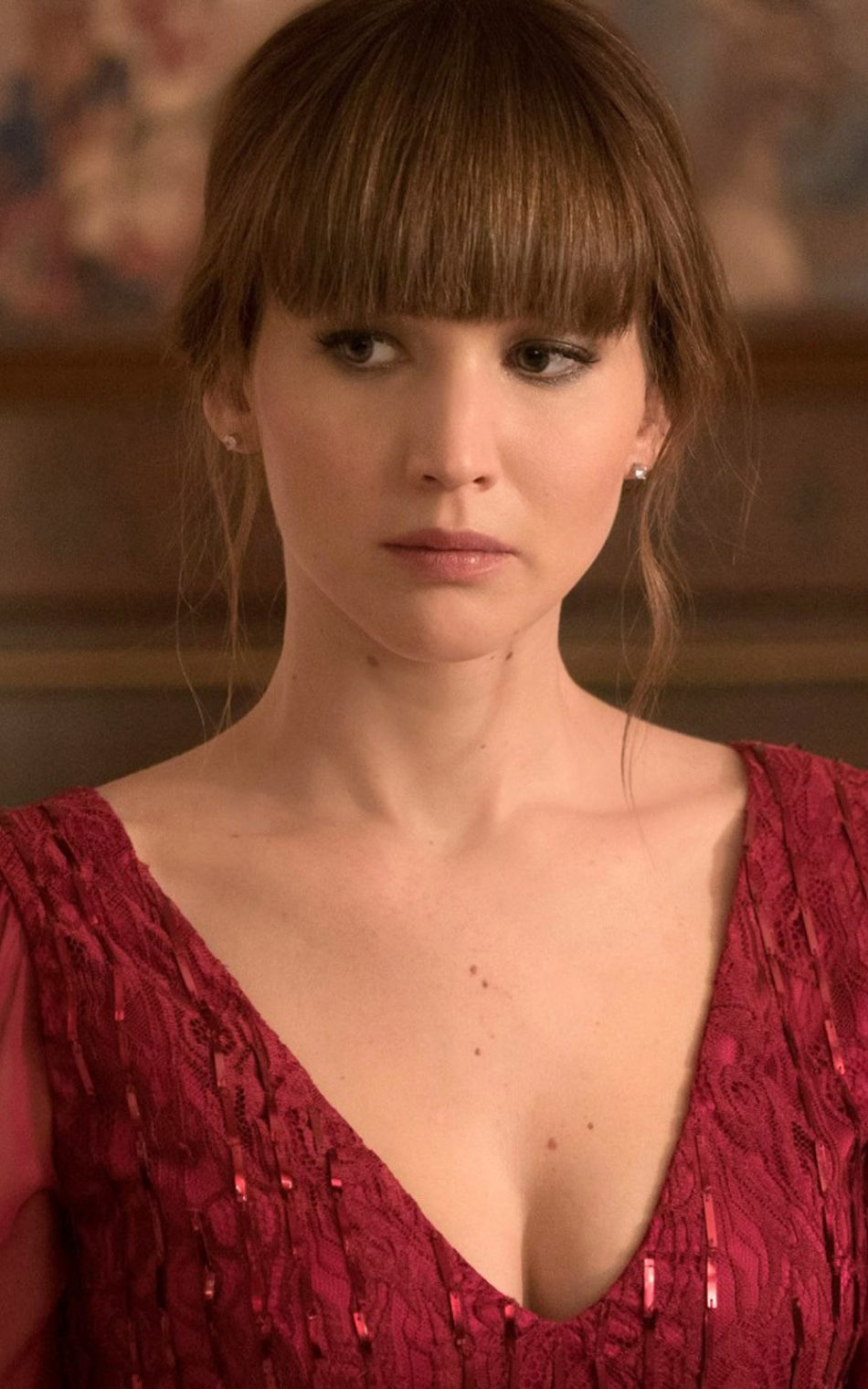 Download Jennifer Lawrence In Red Sparrow Red Dress Free Pure 4k