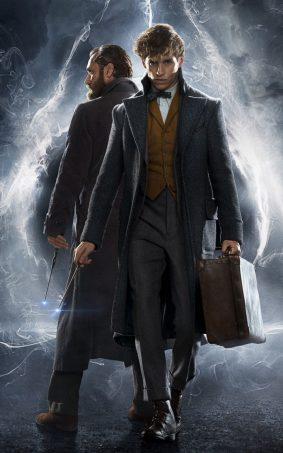 Jude Law & Eddie Redmayne In Fantastic Beasts - The Crimes of Grindelwald HD Mobile Wallpaper