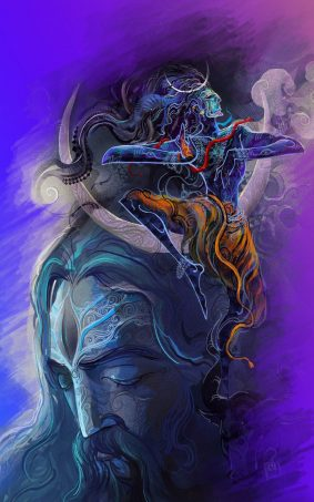 Lord Shiva Aghori Art HD Mobile Wallpaper