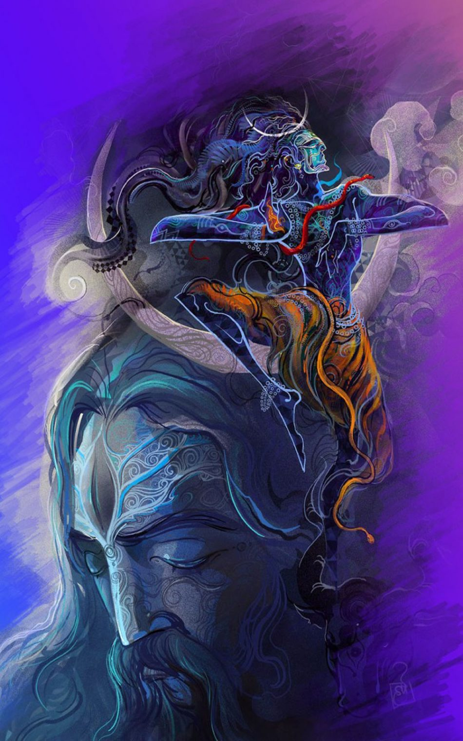 Download Lord Shiva Aghori Art Free Pure 4k Ultra Hd Mobile Wallpaper