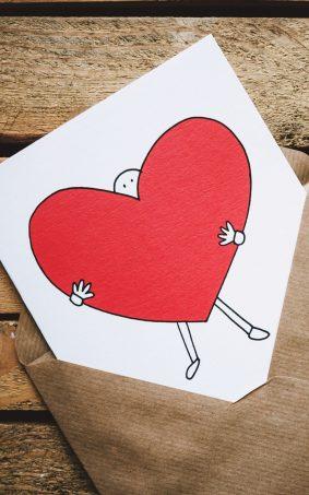 Love Heart Postcard Envelope HD Mobile Wallpaper