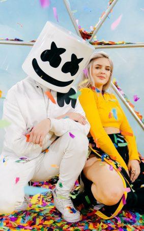 Marshmello & Anne-Marie - FRIENDS HD Mobile Wallpaper