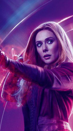 Elizabeth Olsen In Avengers Infinity War HD Mobile Wallpaper