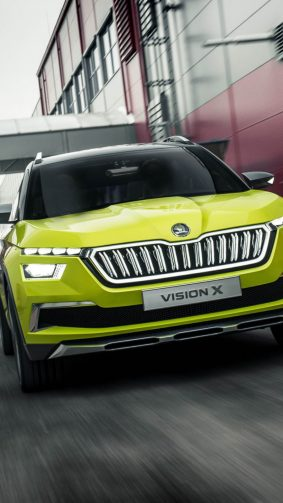 Green Skoda Vision X HD Mobile Wallpaper