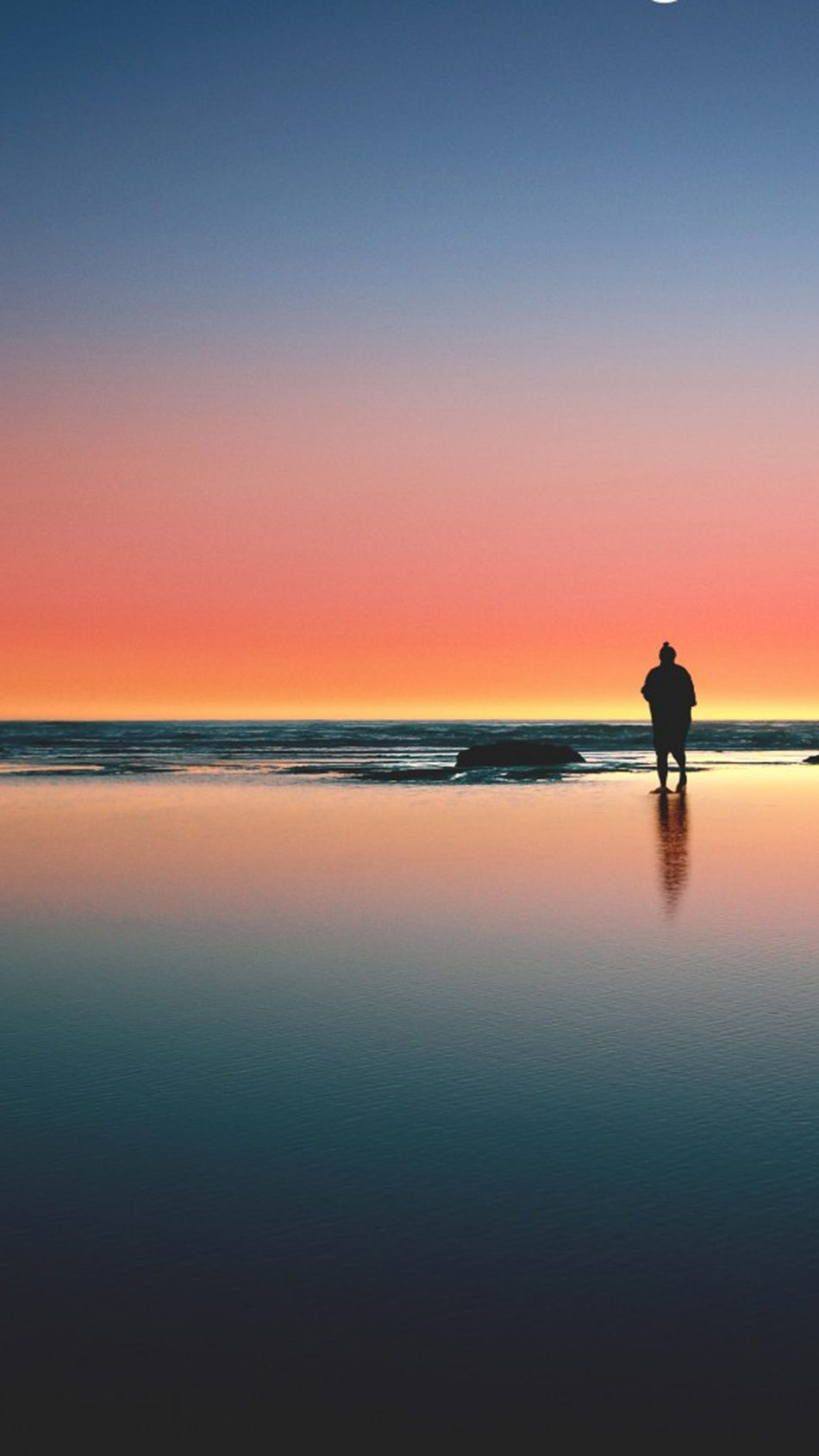 Download Loneliness Sea Beach Sunset Free Pure 4k Ultra Hd Mobile