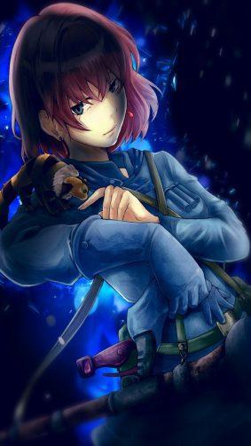 Naussica Anime Girl HD Mobile Wallpaper
