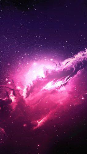 Nebula Pink Galaxy Stars HD Mobile Wallpaper