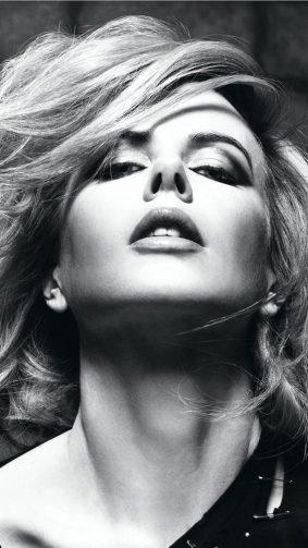Nicole Kidman Hot Black & White Photoshoot HD Mobile Wallpaper