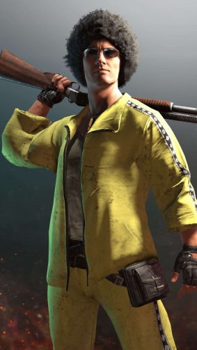 PUBG Male Player Yellow Tracksuit HD Mobile Wallpaper