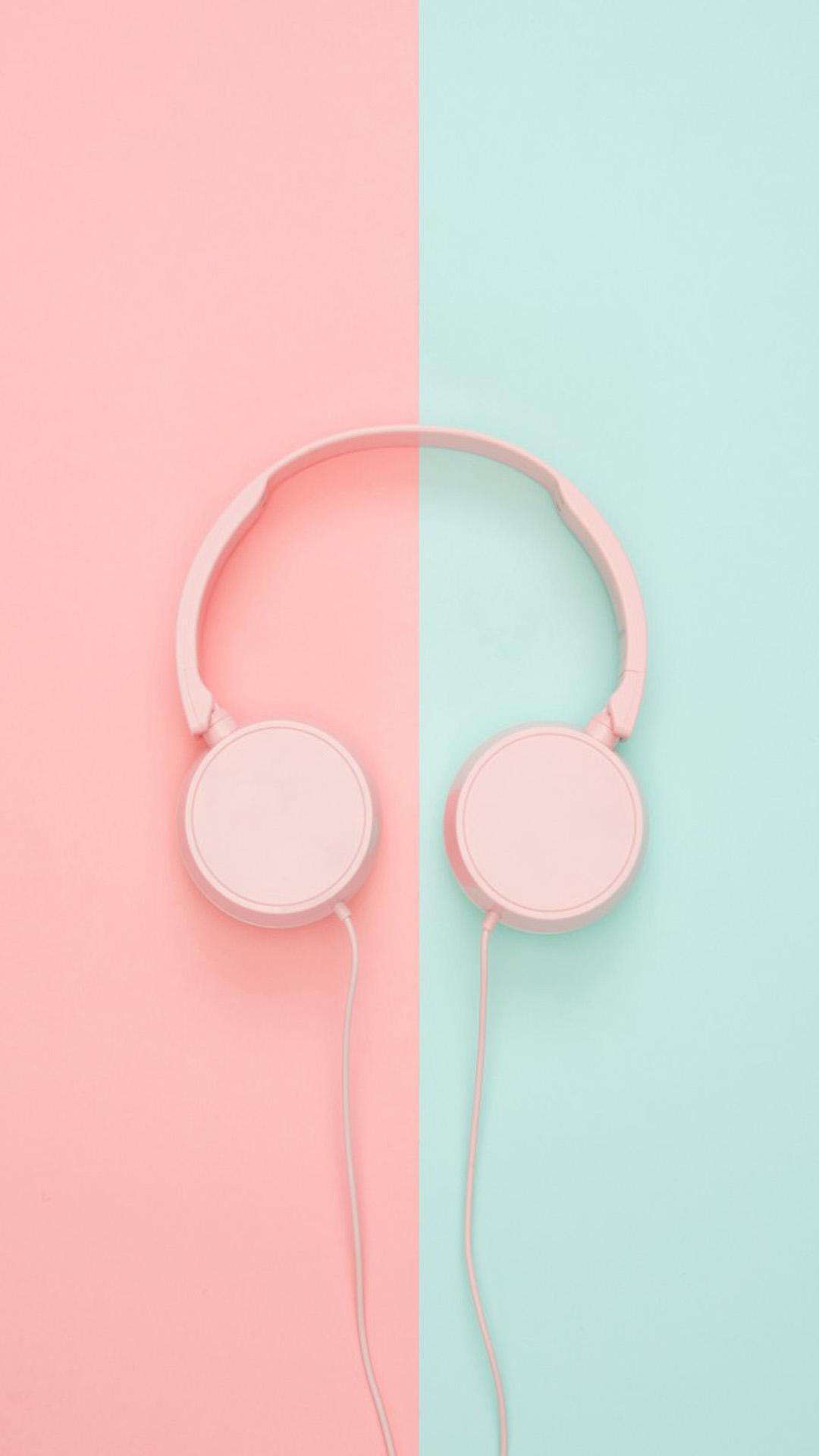 Pink Teal Headphones Free 4k Ultra Hd Mobile Wallpaper