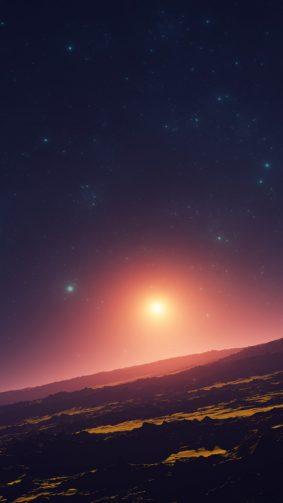 Planet Horizon Summer Sun HD Mobile Wallpaper