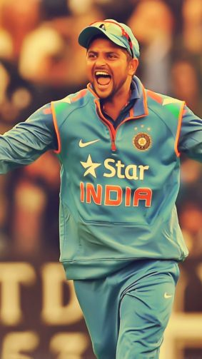 Suresh Kumar Raina Indian Cricket Player HD Mobile Wallpaper
