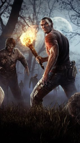 Fighting With Zombies H1Z1 Battle Royale HD Mobile Wallpaper