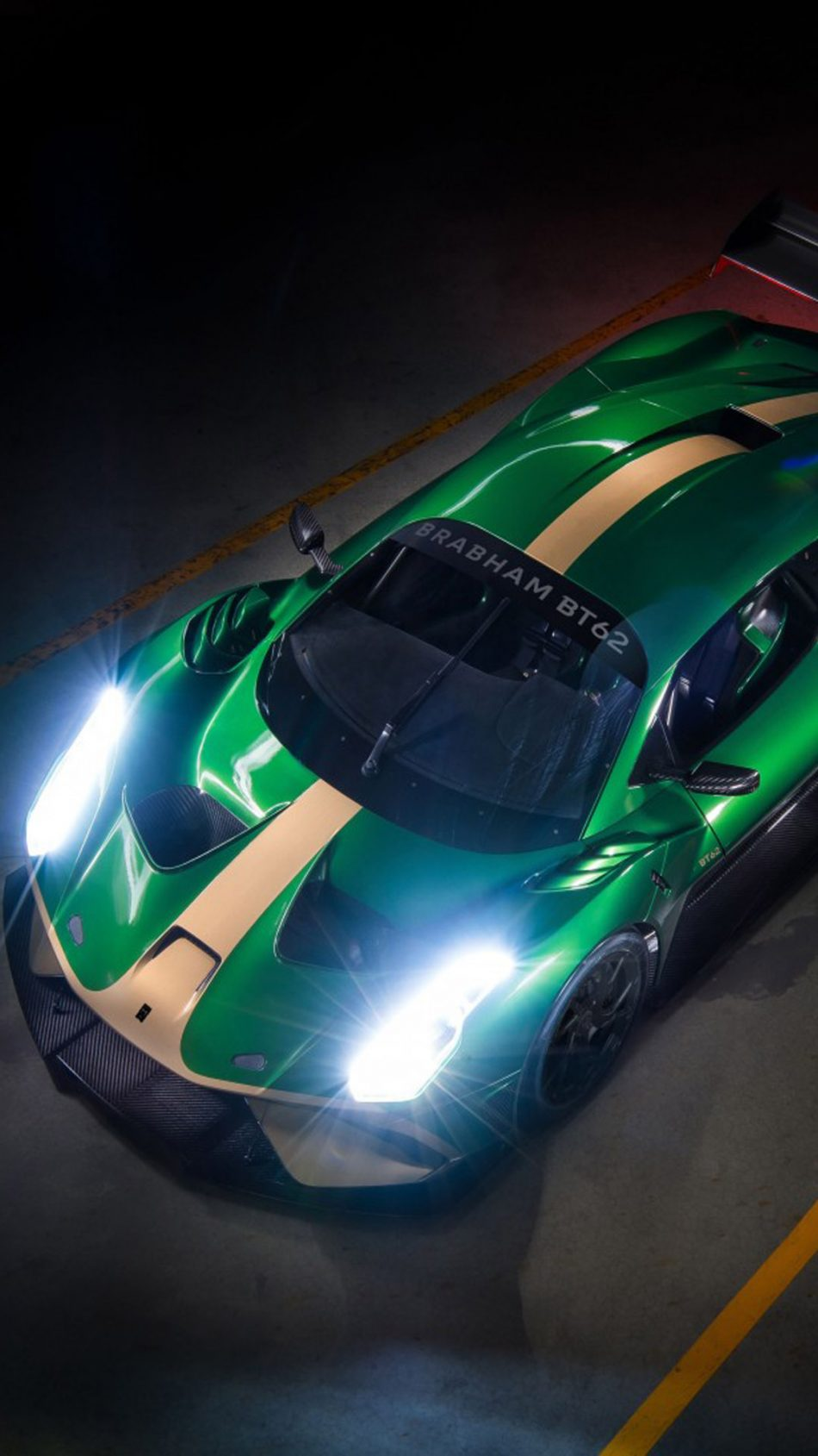 Green Brabham BT62 Supercar HD Mobile Wallpaper HD Mobile Wallpaper