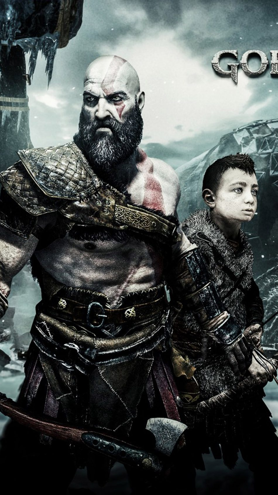Kratos Atreus Together In God Of War Free 4k Ultra Hd Mobile