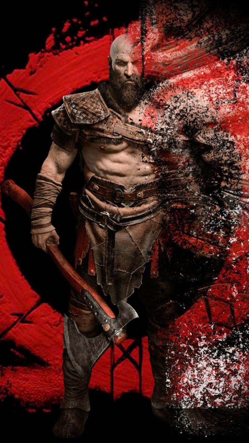 Kratos From God Of War Free 4k Ultra Hd Mobile Wallpaper