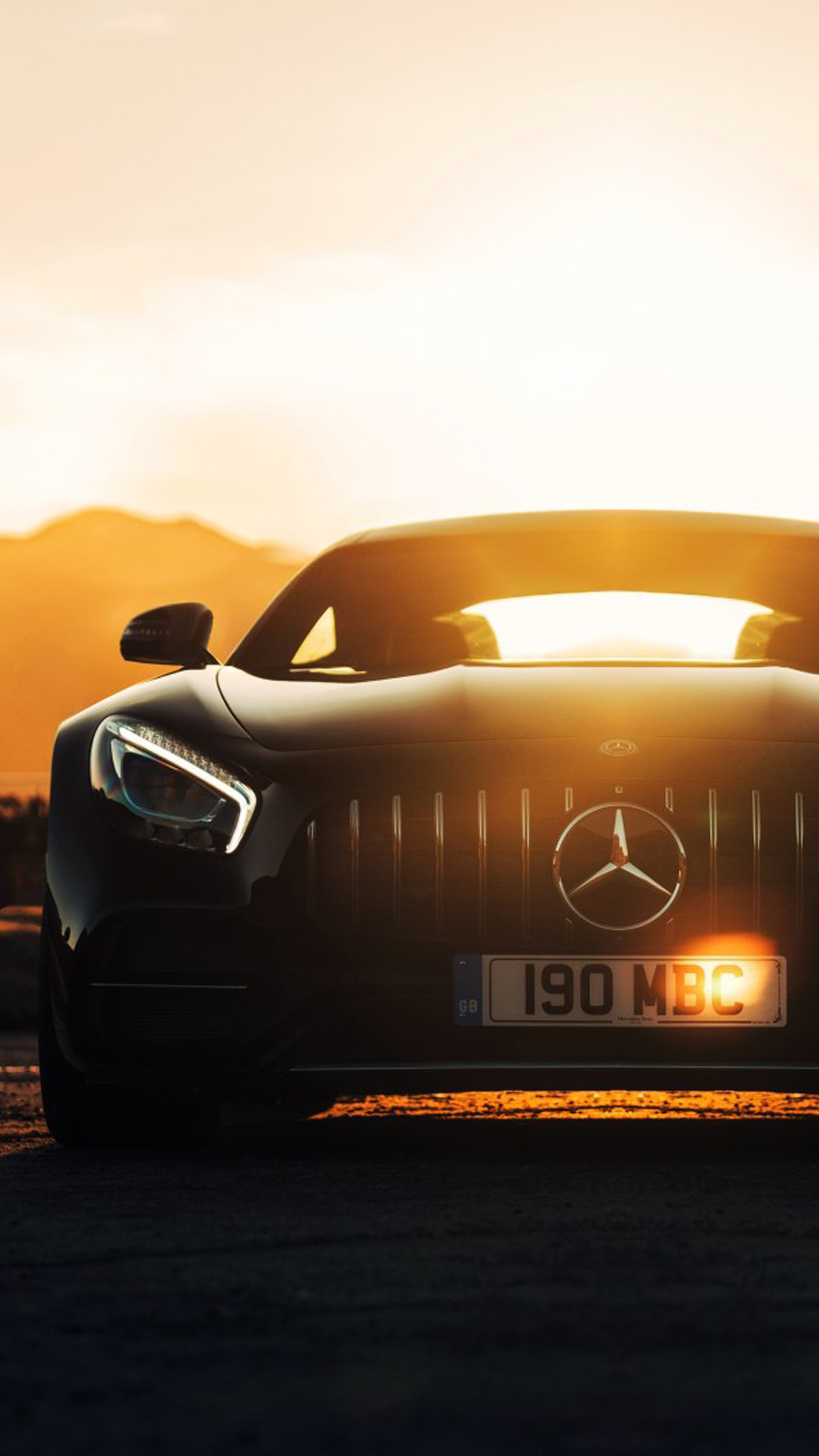 Mercedes Amg Gt C Sports Car Sunset 4k Ultra Hd Mobile Wallpaper
