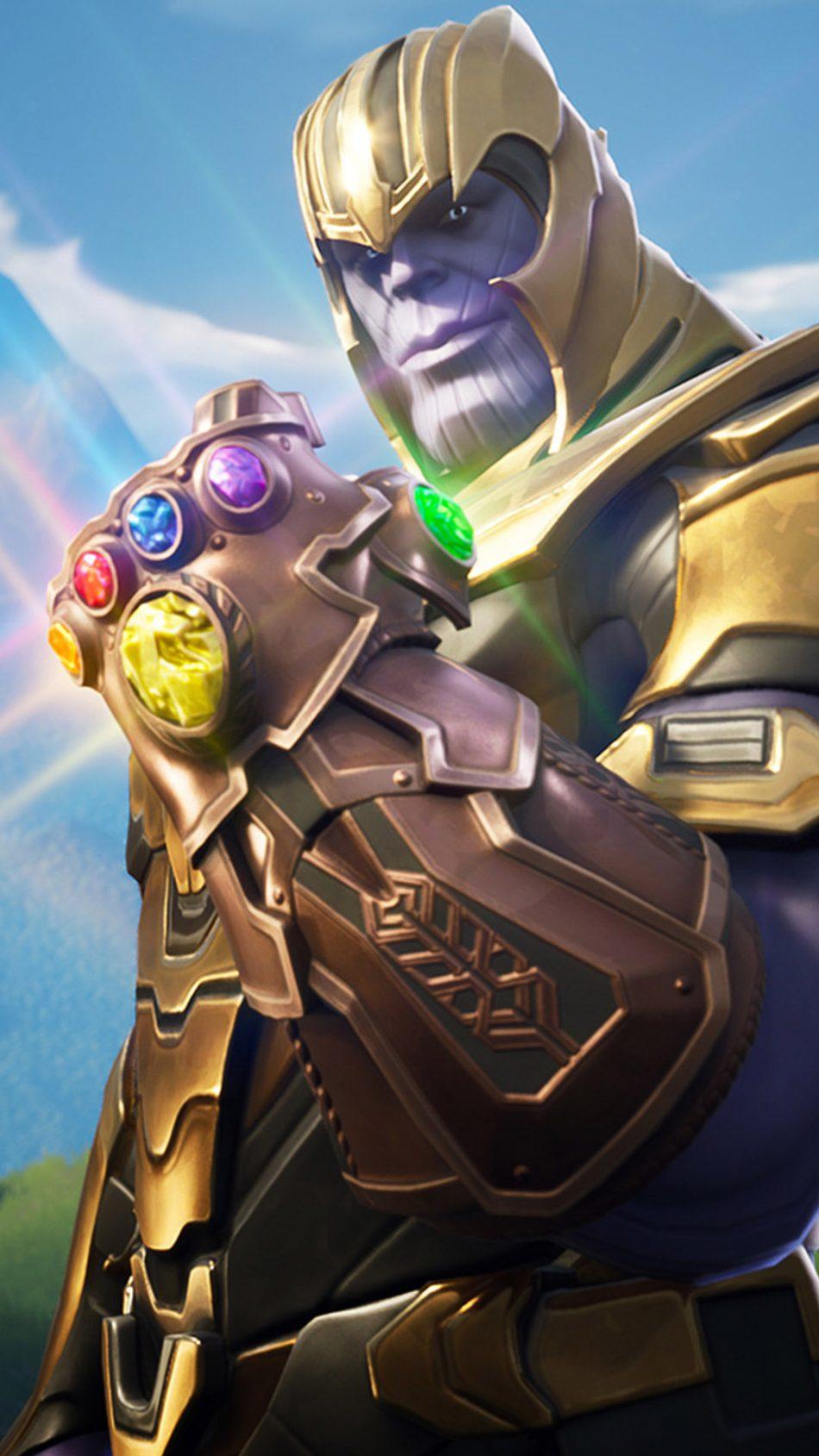 Thanos In Fortnite Battle Royale HD Mobile Wallpaper