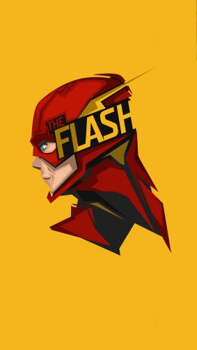 The Flash Minimal Artwork HD Mobile Wallpaper
