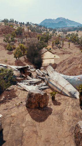 Aeroplan Crash Area In Miramar PlayerUnknown's Battlegrounds (PUBG) HD Mobile Wallpaper