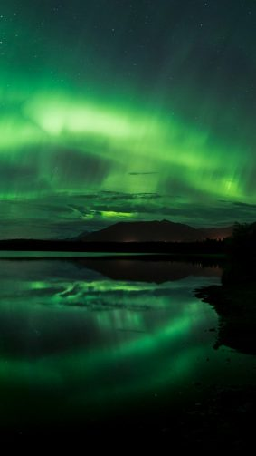 Aurora Borealis Northern Lights Panorama Alaska HD Mobile Wallpaper